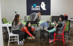 쉐어하우스의 배윤식 대표부터 차례로 염해림, 조윤미, 이미담, 류현하 에디터