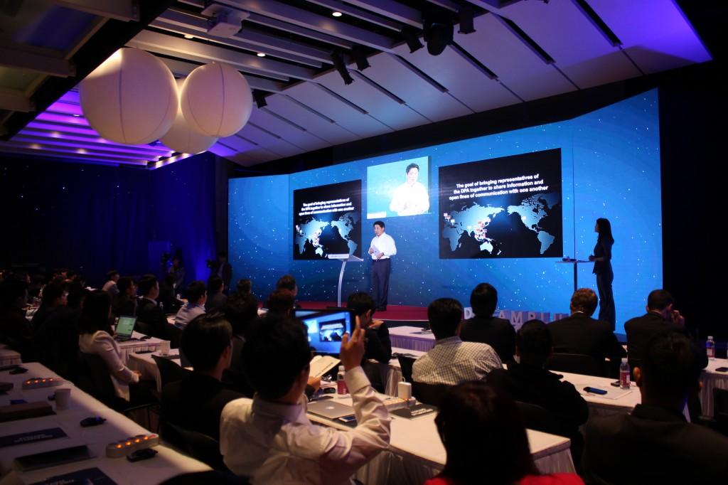 한화드림플러스 데이 2014 컨퍼런스 사진 한화 S&C김용욱대표이사 인사말 사진