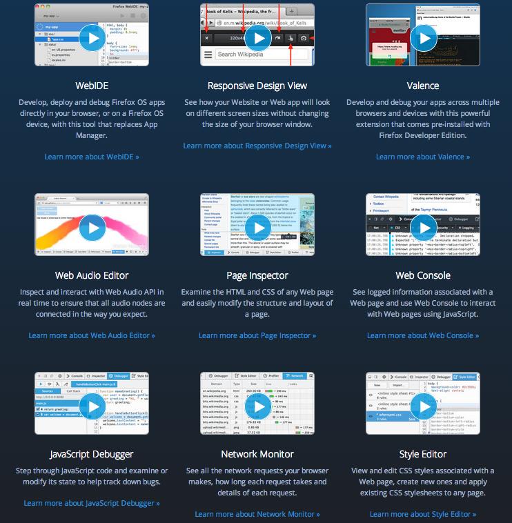 사실 대부분은 이미 일반 파이어폭스에도 있긴 합니다! 핵심은 웹IDE와 밸런스!