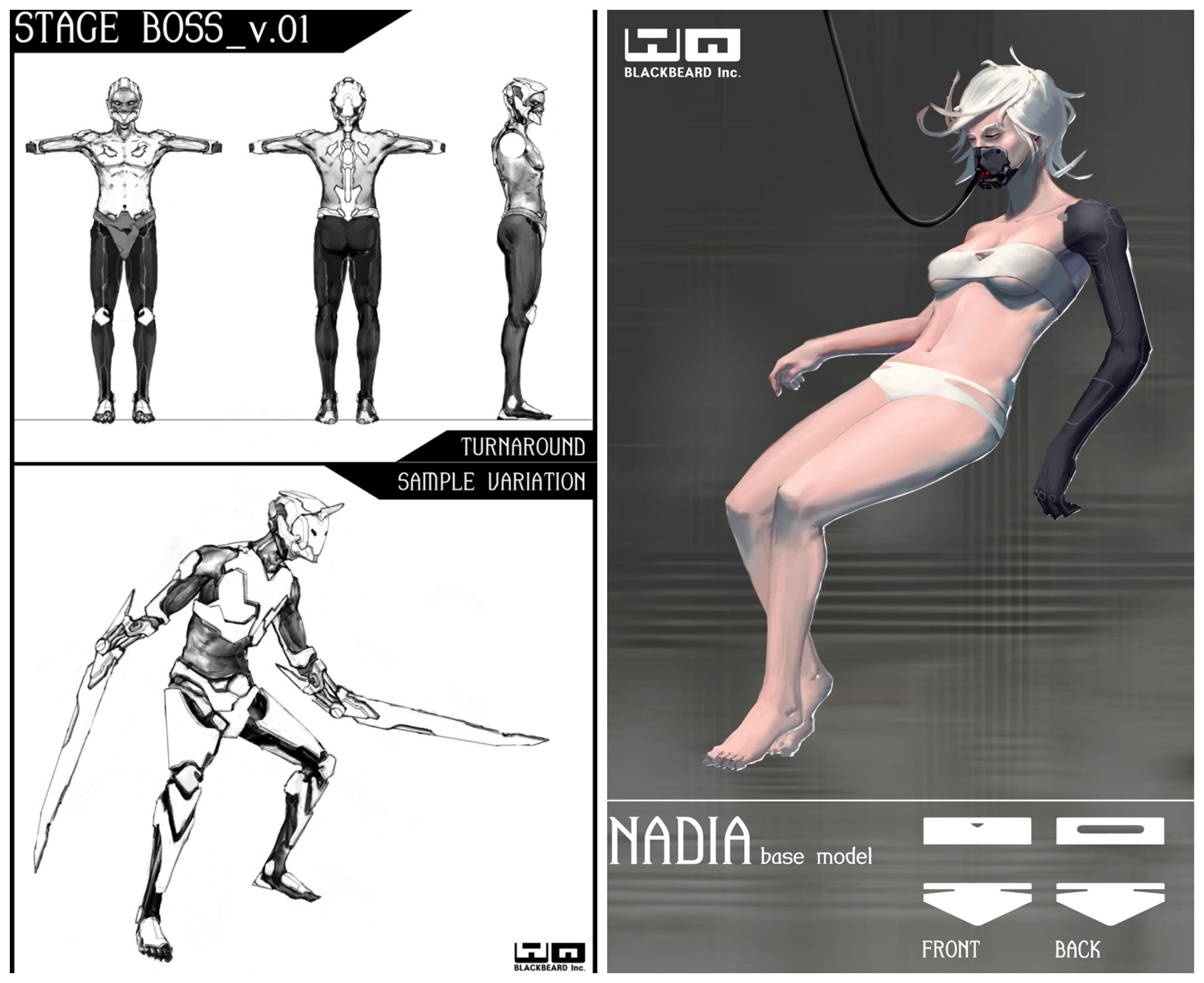 액션RPG 모바일게임 '디스토피아'의 캐릭터 컨셉 일러스트