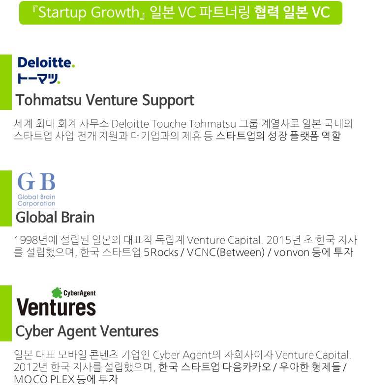 [Startup Growth] 일본 VC 파트너링 지원사업_홍보물2