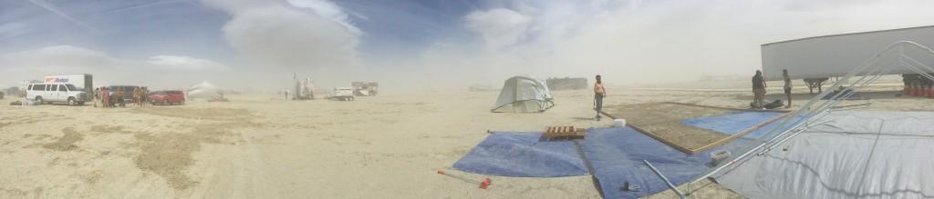 휑한 캠프의 사이트
