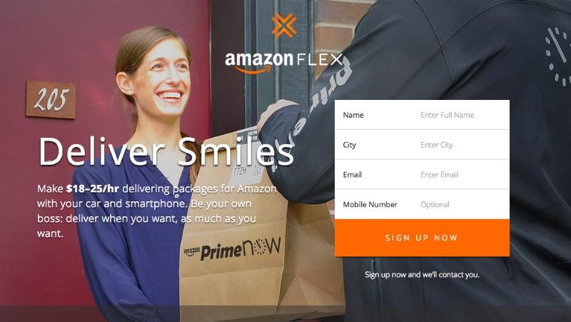 Amazon Flex Source: gizmodo