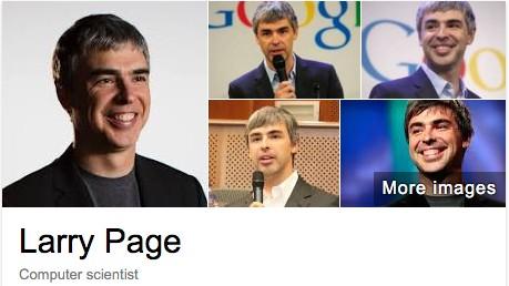 구글에서 래리 페이지의 이름을 검색하니 '컴퓨터 과학자'로 소개되어 있다.