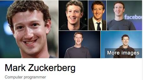 마크 저커버그를 구글에서 검색하니 '컴퓨터 프로그래머'라고 나온다.