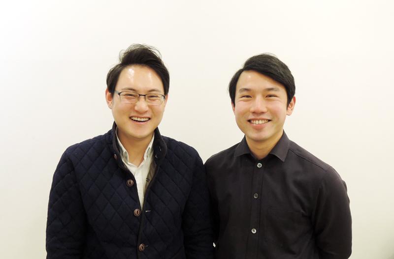 (주)퍼스트플래너 공동창업자들. 왼쪽부터 강민성 공동대표(28), 강영철 공동대표(27).