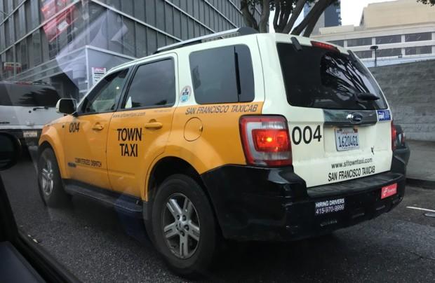사진설명 : 샌프란시스코의 택시는 마치 멸종위기에 처한 동물처럼 보였다.