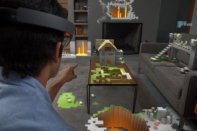 홀로렌즈 공간맵핑 게임, 마인크래프트 : http://brainyandnerdy.com/microsoft-hololens/