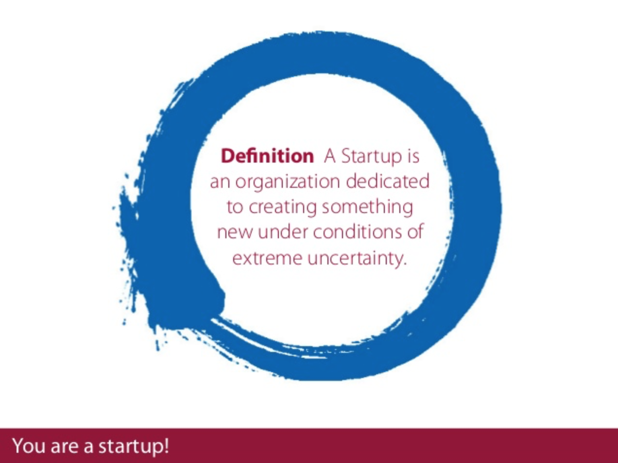 에릭 리스(Eric Ries)의 스타트업 정의. 출처=Lean Startup
