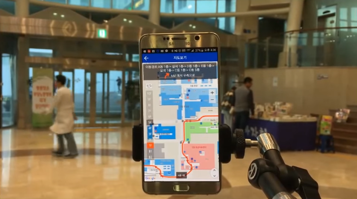 M-Care can guide patients where they need to go with its indoor navigation feature.