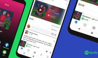 스포티파이, 페이스북 내 음원 재생 지원하는 '미니플레이어' 런칭