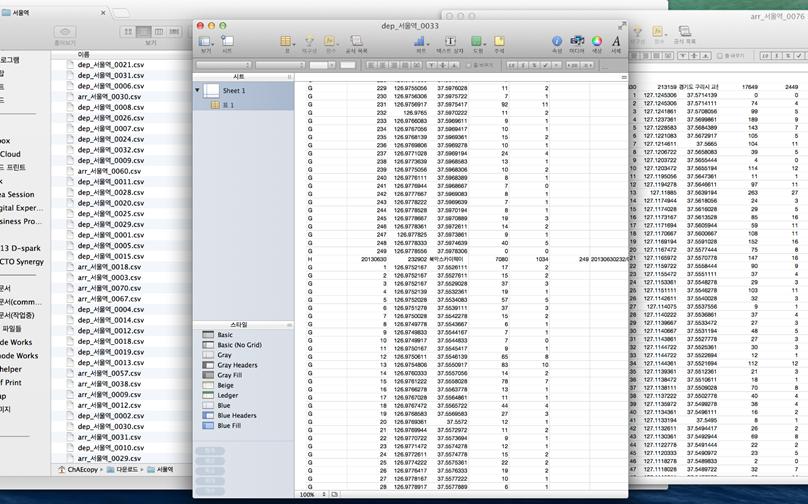 T map의 방대한 경로데이터 중 일부. 이처럼 텍스트로만 되어 있는 데이터에서 인사이트를 도출하기란 극히 힘든 일이다.
