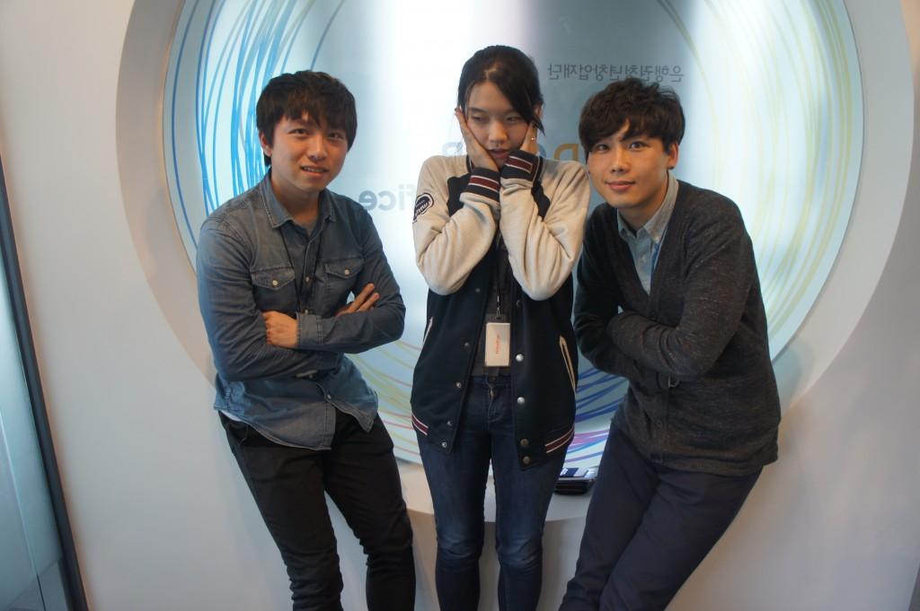 왼쪽부터 최준묵대표, 김교은 매니저, 곽상기대표