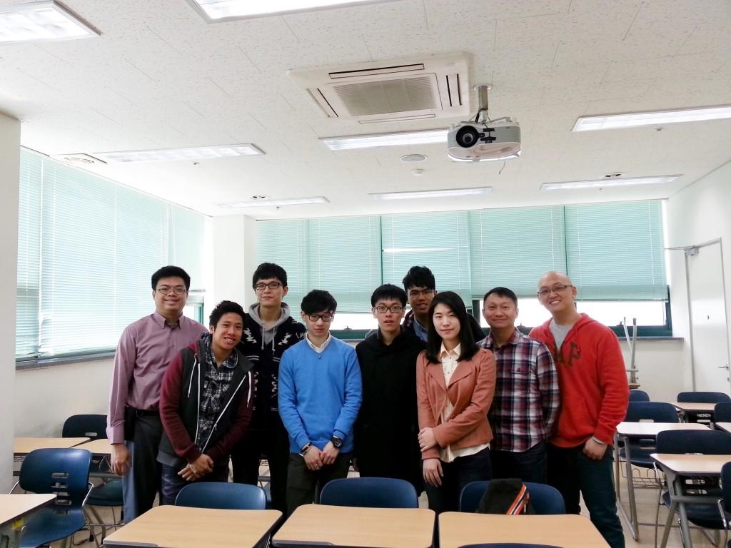 인터뷰에 응해준 홍콩대 학생들과  Lam Kin Sun Martin 교수