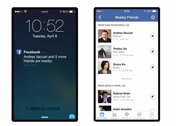 ▲ 세계 최대 소셜네트워크서비스(SNS) 업체인 페이스북이 친구들의 위치를 알려주는 '니어바이 프랜드' 서비스를 추진한다. 9to5mac 제공
