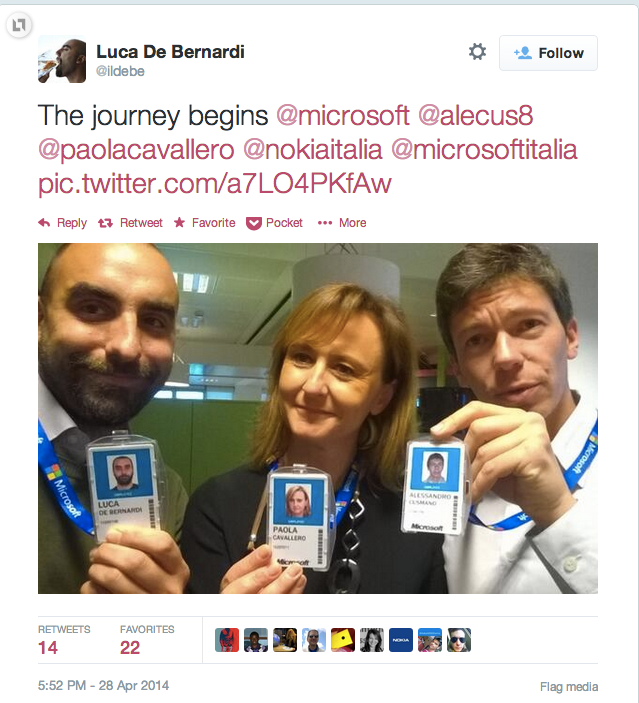 출처 : 노키아 직원인 Luca De Bernardi 의 트위터 (https://twitter.com/ildebe/status/460702970586607616)