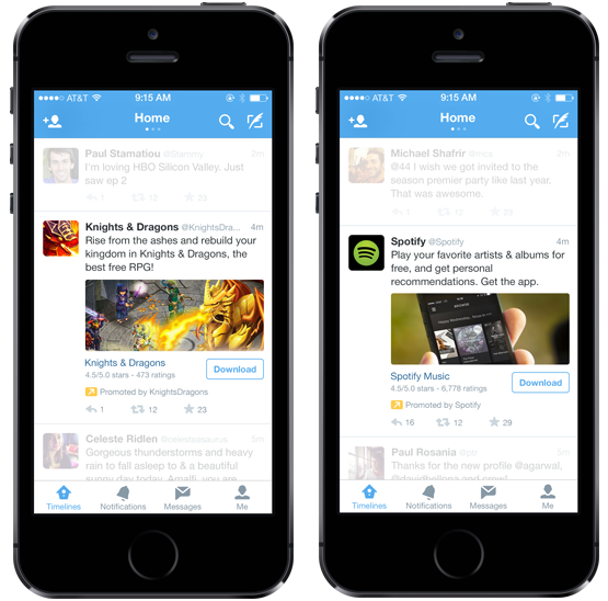 Twitter mobile app install ads with mopub