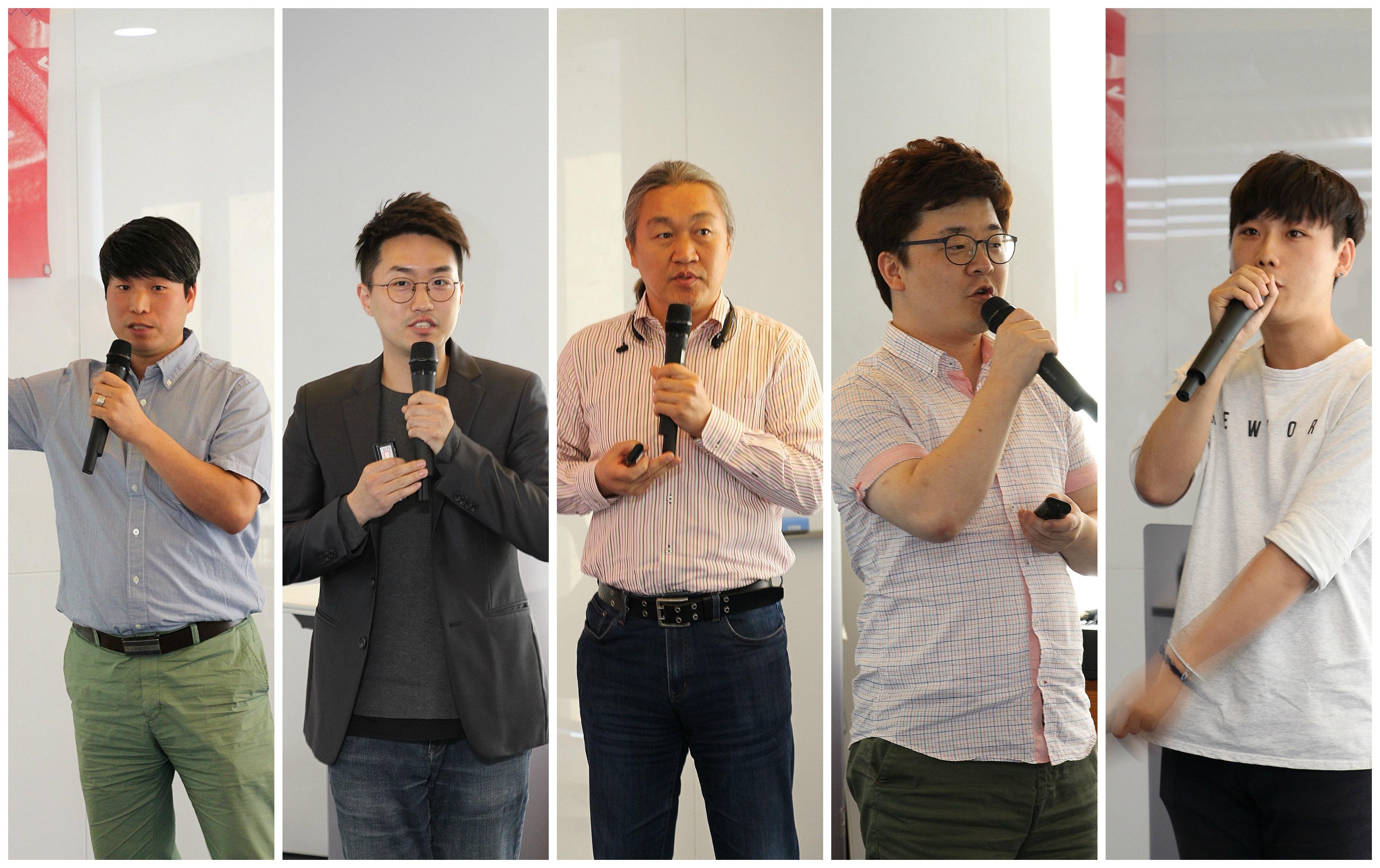 10개 기업 대표님들 발표모습
