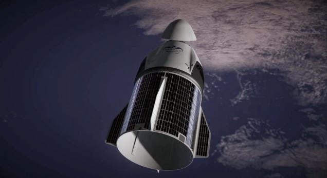 2차 추진체까지 써서 우주에 올린 후에는 태양광 패널이 등장해서 ISS까지 도킹을 유도한다. 이 패널이 어떻게 등장했는지는 설명을 하지 않았다