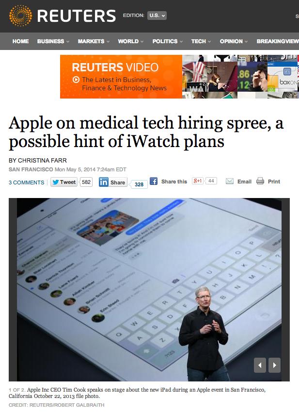 출처 : 로이터 (http://www.reuters.com/article/2014/05/05/us-apple-hiring-insight-idUSBREA4409020140505?utm_content=bufferb5155&utm_medium=social&utm_source=twitter.com&utm_campaign=buffer)