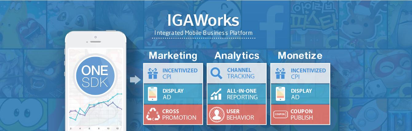 아이지에이웍스는 개발외에 마케팅, 이용자분석, 광고 등 다양한 플랫폼과 서비스를 제공하는 전문업체다.
